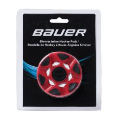 BAUER RH SLIVWER PUCK RED (1049840) IN-LINE HOKEJOVÝ PUK