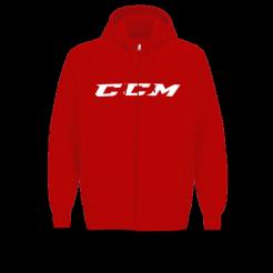 Hokejová mikina CCM Fullzip CVC Hoddy Youth