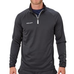 Mikina BAUER VAPOR FLEECE 1/4 ZIP TOP BLK-SR (1056716)