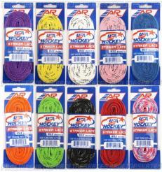 Hokejové tkaničky A&R USA Hockey Striker Lace Wax
